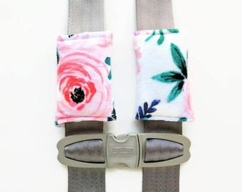 Floral Car Seat Strap Cover - Belt Strap - Strap Cover - Baby Stroller - Baby Girl Gift - Baby Girl Coming Home - Boho Baby - Baby Blanket