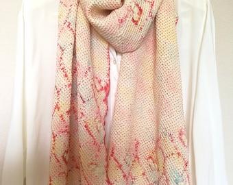 Japanese Shibori Silk Scarf