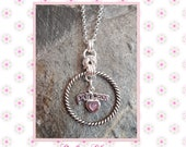 BDSM Sterling Silver Discreet Day Collar. With rooe style O Ring and Princess Charm. Submissive Baby Girl Little Girl Princess