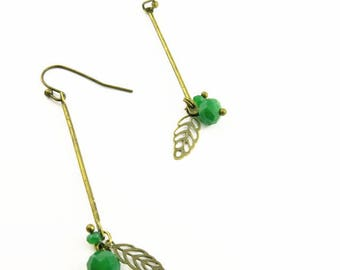 BOFA05023 glass crystal earrings