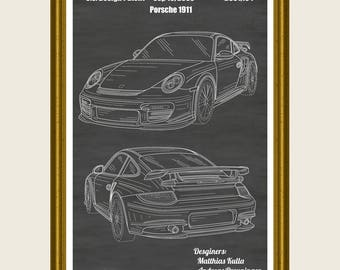 Porsche Poster, Porsche 911 Patent, Porsche Print, Porsche Poster, Porsche Poster, Porsche 911 Art, Porsche Decor, Sports Car Poster P284