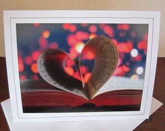 Photo Greeting Card   Handmade Card   Photo Note Card   Valentine Card   Original Photography   Love