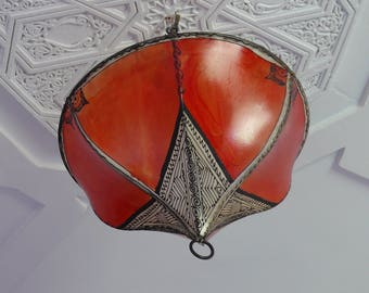 Morocco Oriental ceiling light henna leather Ø 40 cm