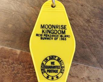 MOONRISE KINGDOM vintage style key chain tag