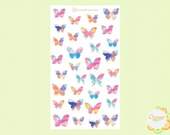 Watercolor Butterflies, Butterfly Stickers, Butterfly Planner Stickers, Erin Condren Life Planner
