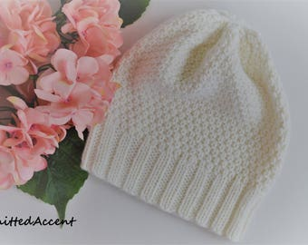 Knit Beanie, Hand Knitted Hat, Winter Hat, Wool Hat, Handmade Beanie Hat, Knitted Beanie Made To Order, Beanie Hat, Knit Winter Beanie Hat