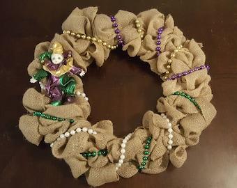 "18"" Mardi Gras Wreath"