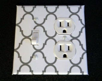Fashion Switch and outlet plate Cyclone Gray