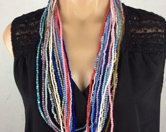 16 Vintage Bead Strand Necklace