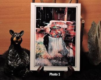 Artistic Card Set / Pot on a Stump / Terra Cotta