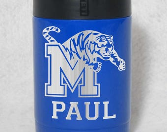 Memphis State Tigers colster 30 oz 20 oz yeti rtic unbranded personalized engraved