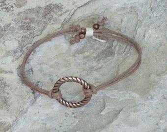 Brown & copper bracelet