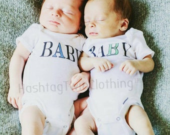 Baby A Baby B| Twin A| Twin B| Twins| Twin Mom| Twin Babies| Newborn Twin Gift| Mom of Twins| Identical Twins| Fraternal Twins| Twin A and B