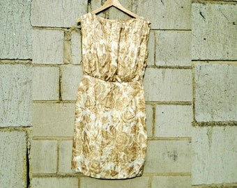 Vintage Dress - Knee Length - Sleeveless Dress - Special Occasion Dress