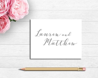 Couples Note Cards, Couples Thank You Notes, Personalized Folded Note Cards, Personalized Note Cards, Wedding Thank You Notes, Couples Gift