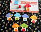 Toadstool Needle Minder - Mushroom Needle Minder - Needle Magnet - Needle Keeper -  Gift for Quilter - Embroidery - Cross Stitch