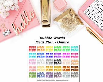 Bubble Words - Meal Plan Ombre//EC//Hp classic, large mini
