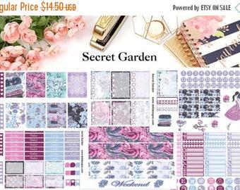 40% Off Sale Secret Garden//EC Weekly Kit//Happy Planner//Weekly Planner Kit