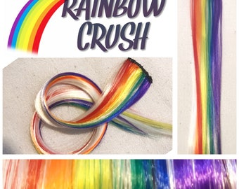 "RAINBOW CRUSH 18"" Crush Clip-In Hair Extension Set - 4 PIECES!"