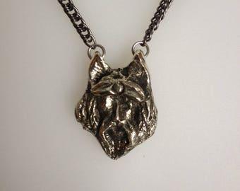 Brass pendant Odin