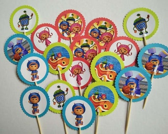 Team Umizoomi Cupcake Toppers Topper with stick Set of 18 Custom Made