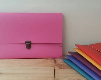 Recycled - linoleum rigid recycled pink Tablet case