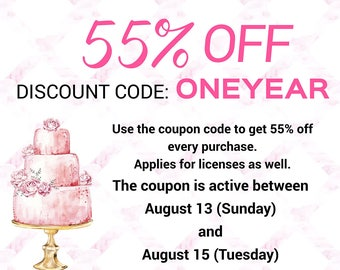 Coupon code 55% off