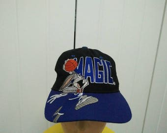 Rare Vintage ORLANDO MAGIC Bug Bunny Big Logo Embroidered Cap Hat Free size fit all