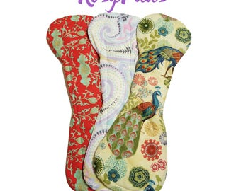 "Washable Cloth Pads, 15"" Heavy Flow, MADE to ORDER, Super Deluxe Absorbency,  Mama Cloth, Washable Pads, RUMPS, Moon Cloths"