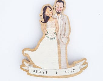 Personalized Wood cake topper,  DILISA wedding decoration