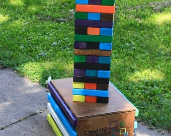 Giant Jenga, Toys and Games, Games and Puzzles, Family Game, Tailgate, Wedding, Outdoor Game, Drinking Game, Jenga, Cornhole, gift, games