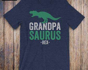 Grandpasaurus Shirt - Fathers Day Shirt, grandpa gift, grandpa birthday, husband gift, grandpa to be, mens athletic, baby shower