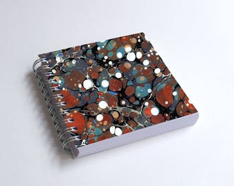 "Notebook 4x4"" decorated with motifs of marbled papers - 12"