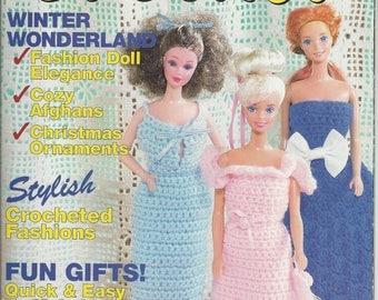 Women's Circle Crochet Magazine Vintage Winter 1992 Patterns Doll Clothes Afghans Ornaments