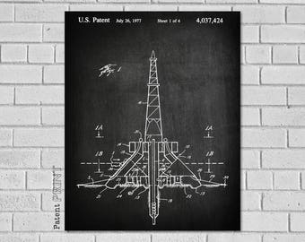 Oil Rig Blueprint, Oil Rig Gifts, Oil Rig Decor, Oil Field Decor, Oil Rig Art, Oil Rig Print, Oil Derrick, Oil Field Gift, Drilling, CO424
