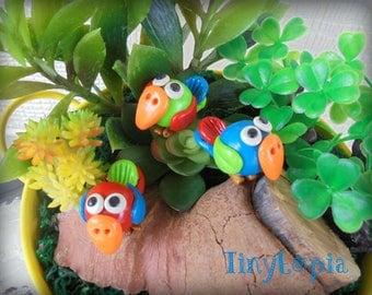 Mini Fairy Garden Parrot