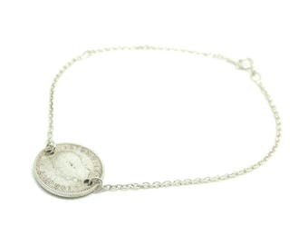 Vintage Charm Bracelet | 1938 Bracelet | Silver Bracelet | Coin Bracelet | Conversion Bracelet | Charm Bracelet | Silver Coin Bracelet