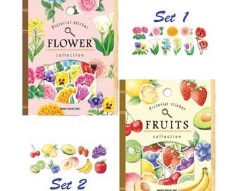 Creative Stickers, Retro, Flower, Fruits, Universe, Birds, Marine Animal, Stationery, Decoration