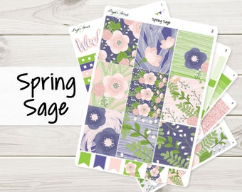 Spring Sage Weekly Kit | Planner Stickers