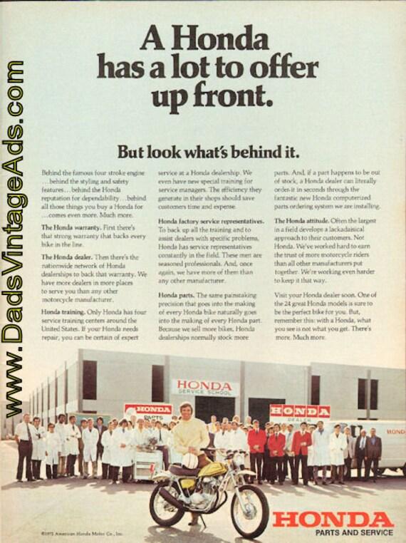 1972 Honda Service School / Parts and Service Ad #d72ha03