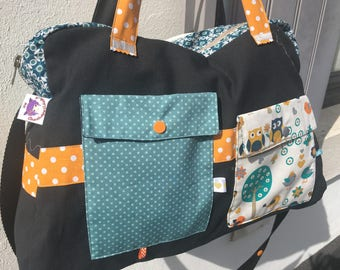 Large diaper bag, weekend * to order / fabric choices *.