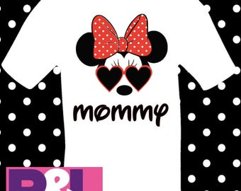 Family Disney Shirts - Mickey with Sunglasses - Minnie with Sunglasses
