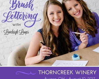 Cleveland Brush Lettering Workshop (Aug 10 @ ThornCreek Winery)