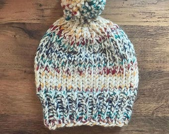 Knit Bean with ribbed brim