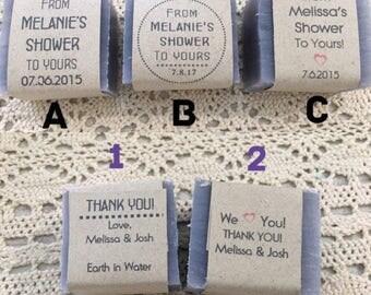 65 mini wedding soap favors