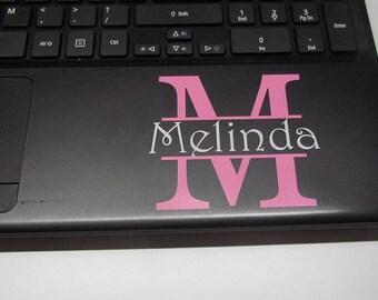 Laptop monogram-Laptop Vinyl Monogram-Laptop Sticker-Laptop Monogrammed Sticker-Laptop Monogram-Laptop Decal-Laptop Vinyl-Laptop Monogram-