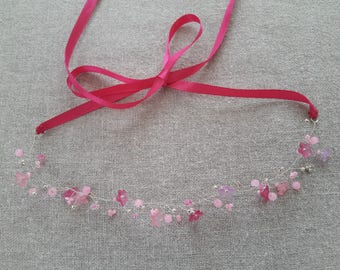 Crown ceremony Crown wedding Crown pink Crown flower - ninette barrettes