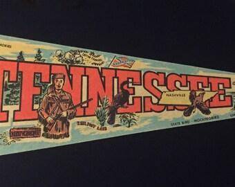 Vintage Tennessee Souvenir Felt Pennant
