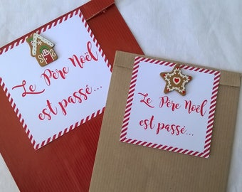 "2 matching Christmas gift bags ""Father Christmas rose"""