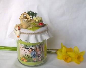 Candle 'Spring Garden' bucolic scene